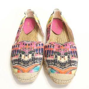 Nine West colorful espadrille shoes sz 10